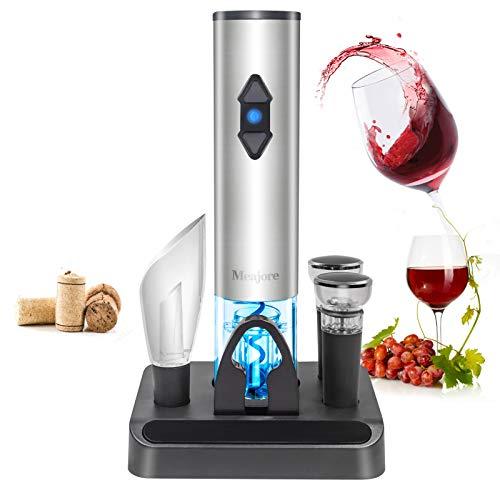 Juego de regalo de abridor de vino eléctrico 5 en 1, kit de barra de lujo inalámbrico automático, equipado con abridor de botellas...