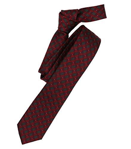 Venti Herren Krawatte gemustert Dunkelrot Einheitsgröße