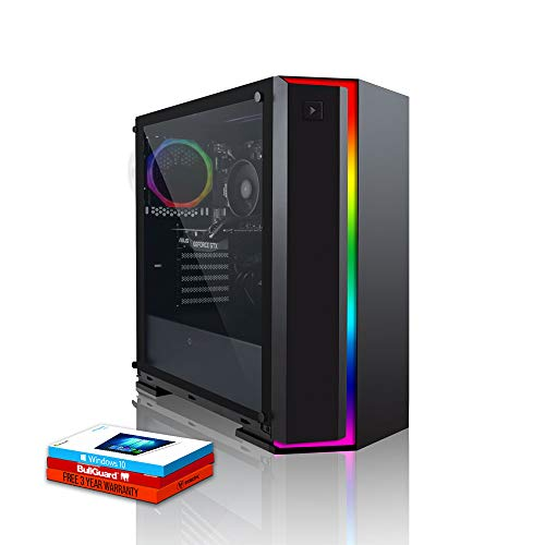 Fierce Viper RGB Gaming PC - Schnell 3.9GHz Hex-Core AMD Ryzen 5 2600, 960GB Solid State Drive, 16GB 3000MHz, NVIDIA GeForce GTX 1660 Ti 6GB, Windows 10 installiert 399816