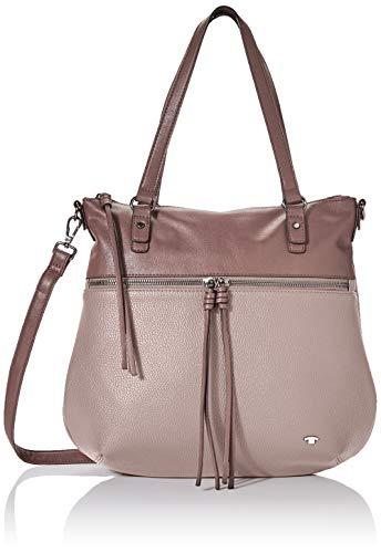 TOM TAILOR Shopper Damen, Tanya, Pink (Old Rosé), 33.5x30x10 cm, TOM TAILOR Schultertasche, Handtaschen Damen
