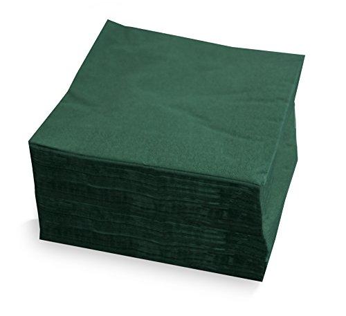 Saten ser4230240Collection, tovagliolo 40x 40, 2strati, piegati a 1/4, 50tovaglioli, 2strati Lisa con bordo, Verde
