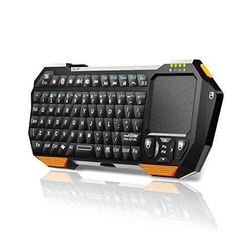 Mini Wireless Keyboard with Touchpad for Smart TV Projector Compatible with Android iOS Windows (Renewed)