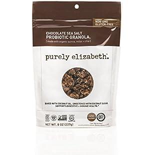 purely elizabeth Probiotic Gluten-Free Granola, Chocolate Sea Salt, 0.5 Pound