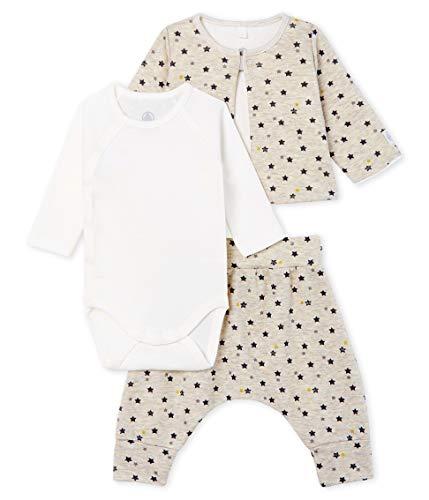 Petit Bateau Baby-Jungen Ensemble 3 Pieces_5069101 Bekleidungsset, Mehrfarbig (Montelimar/Multico 01), 56 (Herstellergröße: 1M/54cm)