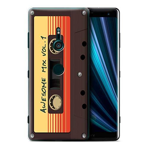Stuff4 Coque pour Sony Xperia XZ3 Gardiens Comiques Inspiré Bande Mixage Génial Désign Transparent Etui Housse Case Rigide Ultra Mince