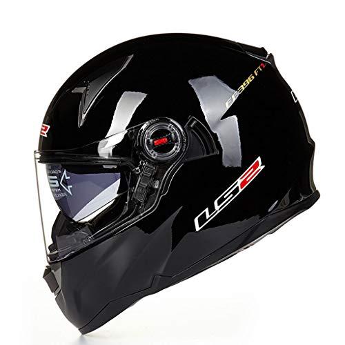 Casque anti-buée mâle pour casque de moto en fibre de verre double fibre de verre (Couleur : C-Xxl(60-61cm))