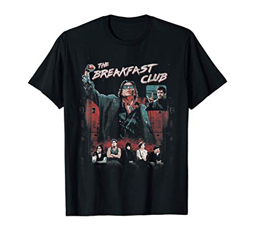 Breakfast Club Group Shot Painted Distressed T-Shirt