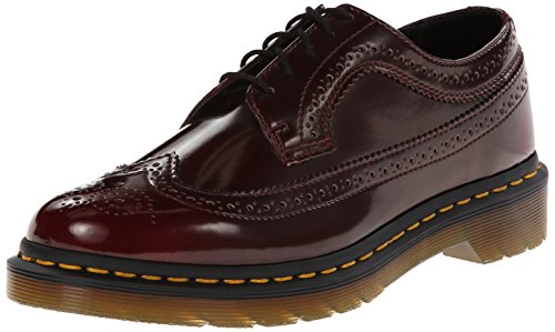 Dr. Martens Felix Rub Off Vegan Scarpe, Unisex, Rosso (Cherry Red), 39