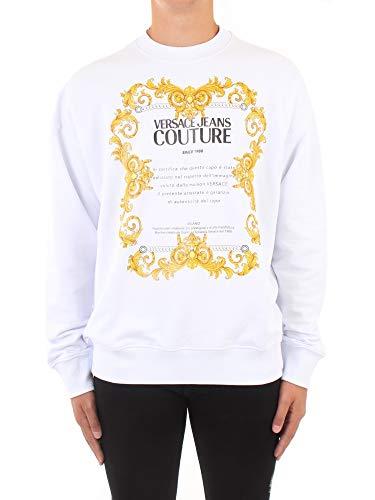 Versace Jeans Couture Herren Rundhals B7 GZA7TS 30318, Weiß X-Large
