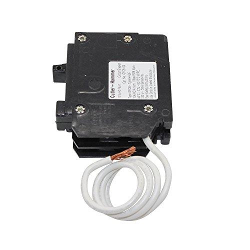 Eaton Corporation GFCB120CS Single Pole Ground Fault Interrupter Circuit Breaker, 120V, 20-Amp
