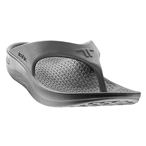 Telic Energy Flip Flop - Comfort Sandals for Men and Women, Dolphin Gray, Women's 8 / Men's 7