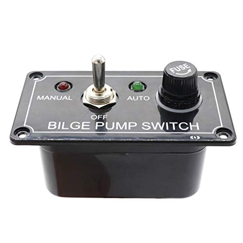 No-Branded - Conmutadores de 3 vías con indicador LED, bomba de cuña, panel de interruptor C12 V, carcasa conmutador, panel manual de apagado automático para RV Boat Rarousa