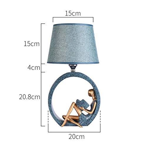 YQHWLKJ Nordic Modern Table Lamp Bedroom Bedside Lamp Romantic Warm Dimmable Study Led Desk Lamp Simple Art Home Decor Lights Fixtures