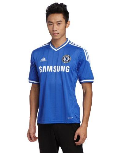 adidas kurzärmliges Trikot Chelsea FC Home Jersey - Camiseta de equipación de fútbol para Hombre, Color Azul, Talla L