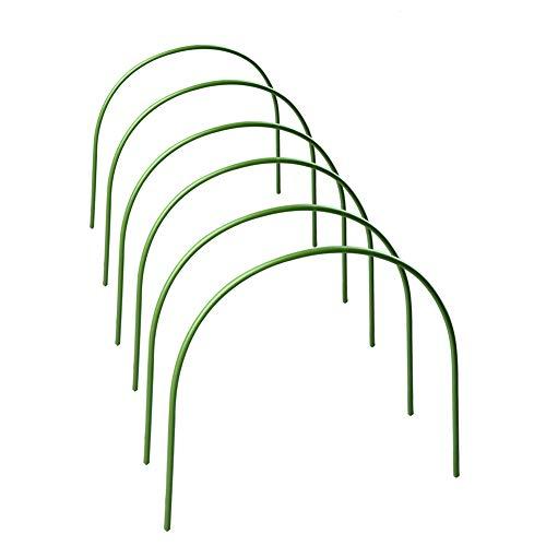 XHONG 6 Stück Gewächshaus-Reifen rostfrei mit kunststoffbeschichteten Stützreifen für Gartengewebe, Pflanzenunterstützung Gartenpfähle