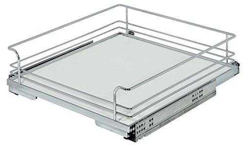 Haefele Innenauszug verchromt für Küchenunterschrank 450 mm breit zum nachträglichen Einbau