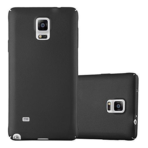 Cadorabo Funda para Samsung Galaxy Note 4 en Metal Negro - Cubierta Protección de Plástico Duro Super Delgada e Inflexible con Antichoque - Case Cover Carcasa Protectora Ligera