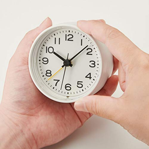 無印良品アナログ目覚まし時計型番:MJ‐AC182114300