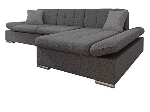 Mirjan24 Ecksofa Malwi mit Regulierbare Armlehnen Design Eckcouch mit Schlaffunktion und Bettkasten, L-Form Sofa vom Hersteller, Couch Wohnlandschaft (Lux 06 + Lux 06 + Lux 05, Ecksofa: Rechts)