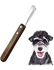 Aidiyapet Cuchillo Pelacables Profesional para Perros, Cepillo para Herramienta de Deshuesado de Mascotas Herramienta de Aseo para Mascotas diestro Mango de Madera ergonómico