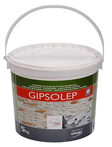 Celina Stegu® GIPSOLEP 5 kg - eignet sich zum Verkleben von verschiedenen Verblend-Riemchen aus Gips - Gipskleber Kleber