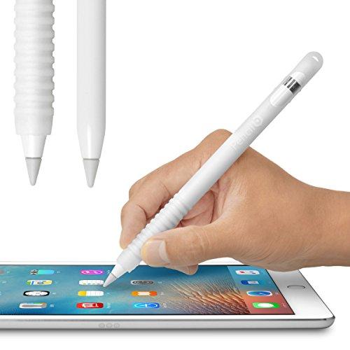 Pencil Barrier™(クリアホワイト)Apple Pencil を保護しグリップ力をアップする シリコン製カバー・充電...