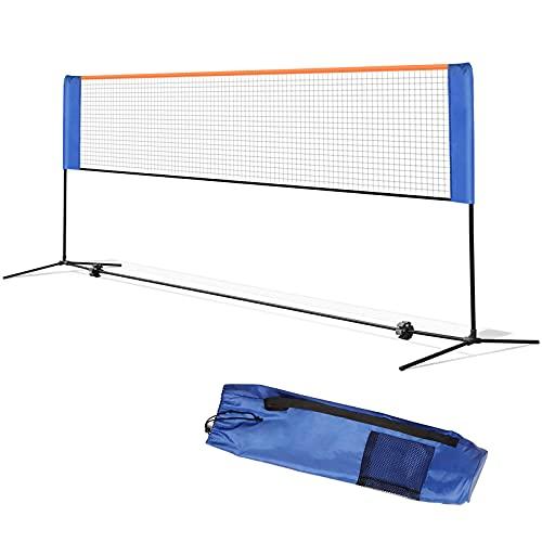 Seedforce Red de Tenis, Red de Bádminton, Red para Voleibol Deportiva, Portátil, 3 m / 4 m / 5 m para el Interior o Aire Libre, Desplegable, Altura Ajustable con Soporte, Fácil Instalación(4M)