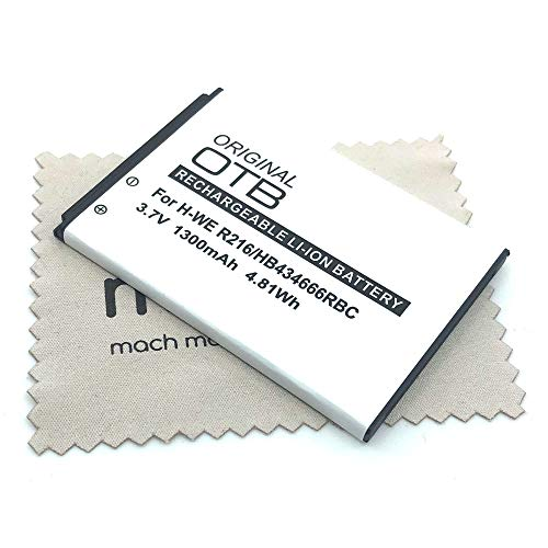 Batería de Repuesto para Huawei E5573 E5577 Vodafone R216 Mobile (sustituye a la batería Original HB434666RBC) con paño de Limpieza mungoo