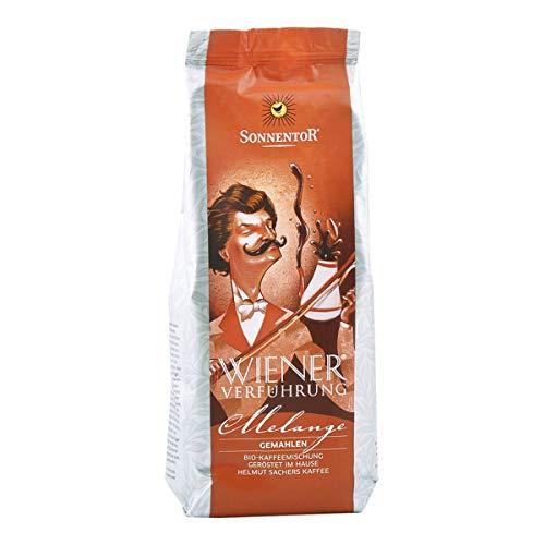 Sonnentor - Melange Kaffee gemahlen Wiener Verführung bio Packung - 500 g - 5er Pack