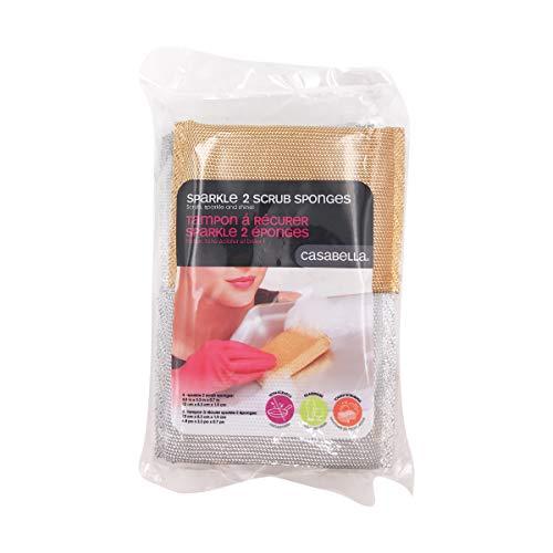 Casabella Sparkle Scrub Sponge, 4-pack