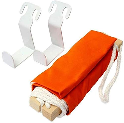N / A Orange Foot Hammock Under Desk - Portable Can Adjust, Light Weight, Quality Polyester Fabric, Durable Environmentally Friendly, For Outdoor Camping Family Office