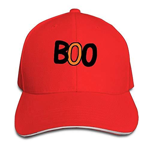 Clothing decoration Boo Halloween Cotton Adjustable Peaked Baseball Cap Adult Sandwich Hat