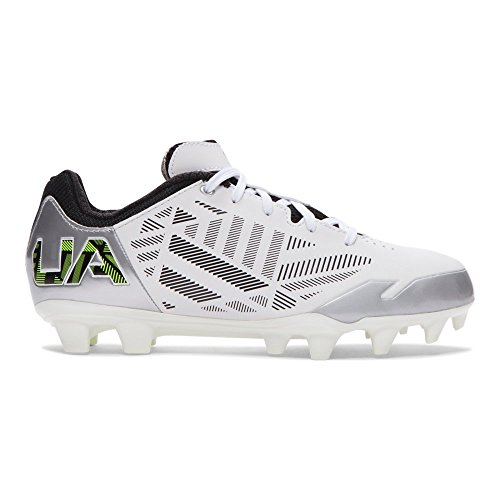 Under Armour Women's Finisher II MC Lacrosse Cleat White/Silver/High-Vis Yellow Size 9.5 M US