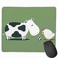かわいい牛 マウスパッド 25×30 大判 ノンスリップ 防水 ゲーミング おしゃれ マウスの精密度を上がる