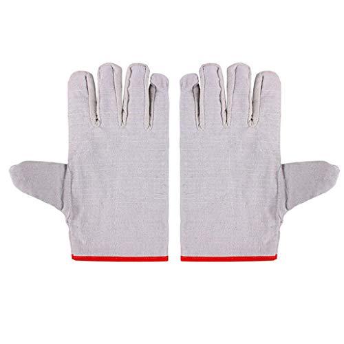 Dicke, Verschleißfeste Handschuhe, Zweilagige 24-Draht-Segeltuchschweiß-Arbeitsschutzhandschuhe Von R-WEICHONG