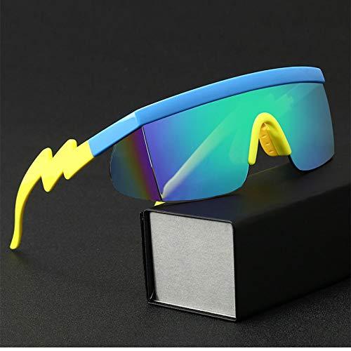 Gafas de Sol Gafas De Sol Lightning Legs Irregular Big Frame Gafas Gafas De Sol Mujeres Deporte Al Aire Libre Gafas De Ciclismo Hombres Moda J