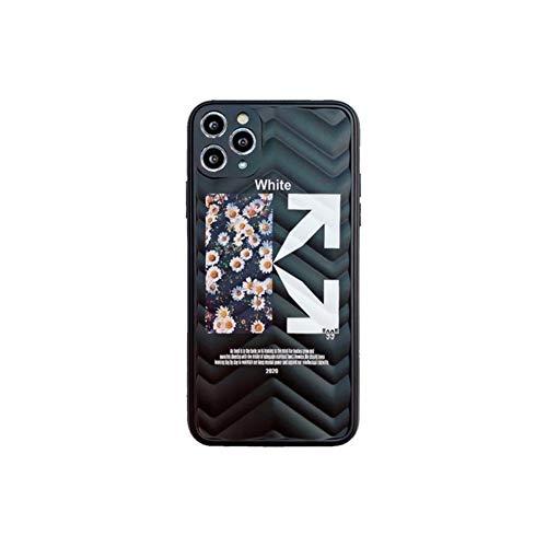 Cassa del telefono Ibht Off Street Sport Trend Puzzle Soft Silicon Telefono Custodia per iPhone 7 8 x XS XR Max 11 Pro Plus 2020 SE Bianco Daisy Cover .nuovo ( Color : 1 , Size : For iPhone XS MAX )
