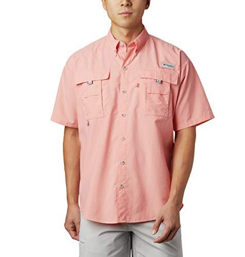 Columbia Herren PFG BahamaTM II Kurzarmhemd – Groß, Herren, Men's PFG Bahama™ II Short Sleeve Shirt - Big, Sorbet, 2X