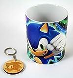 Taza y llavero Sonic