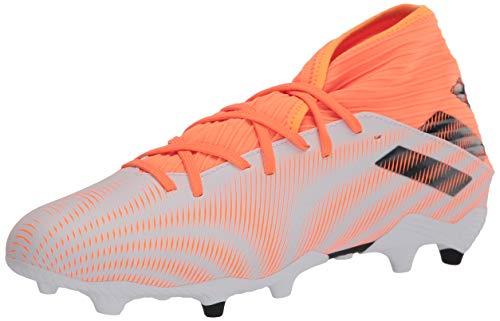 adidas Men's Nemeziz .3 Firm Ground Soccer Shoe, White/Black/Screaming Orange, 13