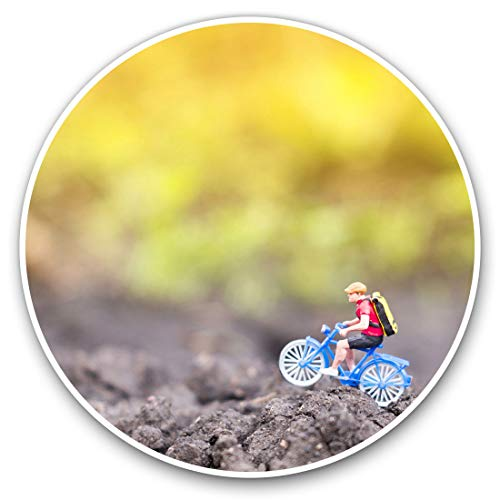 Pegatinas de vinilo (juego de 2) 7,5 cm – Bicicleta de montaña en miniatura #12514
