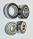 EcoBio - Juego de rodamientos de bolas para rueda trasera y disco deslizante –...