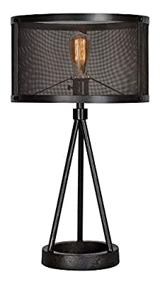 Industrial Style Small Black Tripod Table Lamp