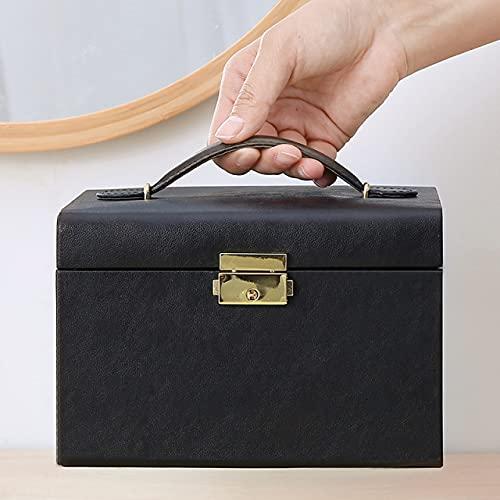 lvenyz Moda nueva caja de joyería continental de alta gama de cuero caja de joyería con cajón Stud pendientes caja de almacenamiento campana