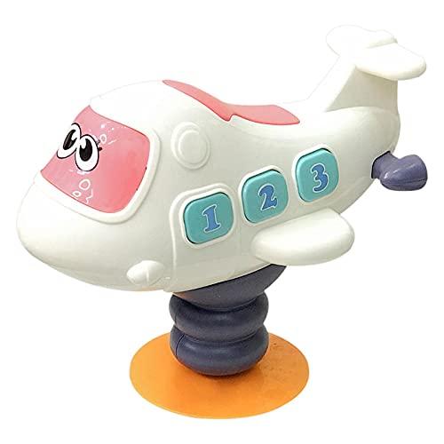 foreverwen Table Sucker Music Jouets, Airplane/Pony Music Jouets avec Ventouse, Baby Puzzle Puzzle Education Education Haute Chaise Haute Interactive Fidget Toys (Horse à Bascule)