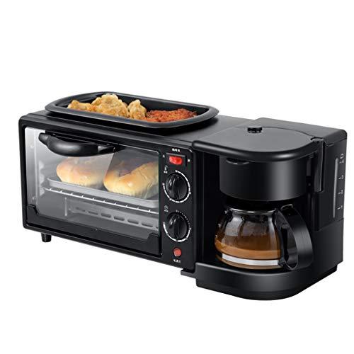 Drie-in-één multifunctionele ontbijtmachine voor het bakken en braden, het maken van koffie, huishouden brood oven, broodrooster, cake bakplaat, warme drank pot broodrooster