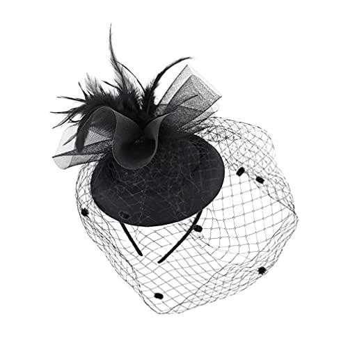 Amosfun Tocado sombrero para mujer de los años 20 Gatsby té fiesta...