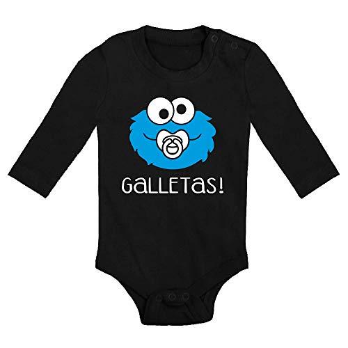 ClickInk Body bebé Galletas. Regalo bebé. Regalos para bebés. Regalo divertido. Regalo original. Bebé friki. Regalo friki. Body friki. Body bebé algodón. Manga larga.