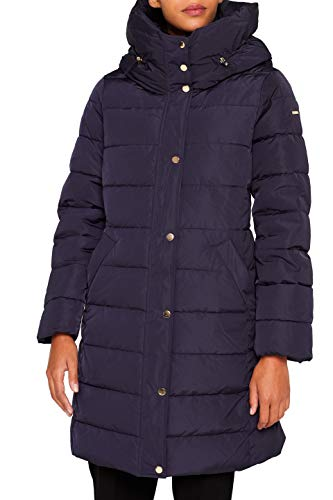 ESPRIT Collection Damen 099EO1G003 Mantel, Blau (Navy 400), Medium (Herstellergröße: M)