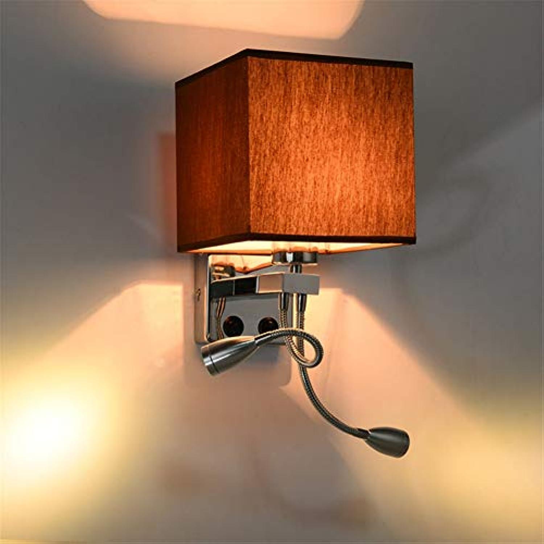 LANGNY Moderner Kipphebel, brauner Doppelkopf Wandleuchte modern Stil Wandlampe Nachtlicht für Bar Schlafzimmer Küche Restaurant Café Flur Babyzimmer
